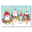 Snowflakes and Penguins Holiday Card