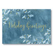 Watercolor Leaves and Berries Holiday Card