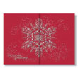 Iridescent Snowflake Gatefold Holiday Card