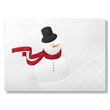 Sophisticated Snowman Holiday Card