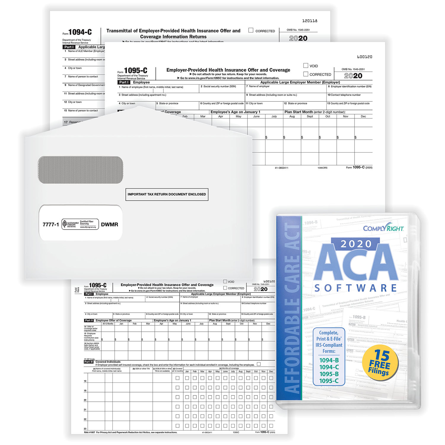 affordable care act forms and software 1095 c kit