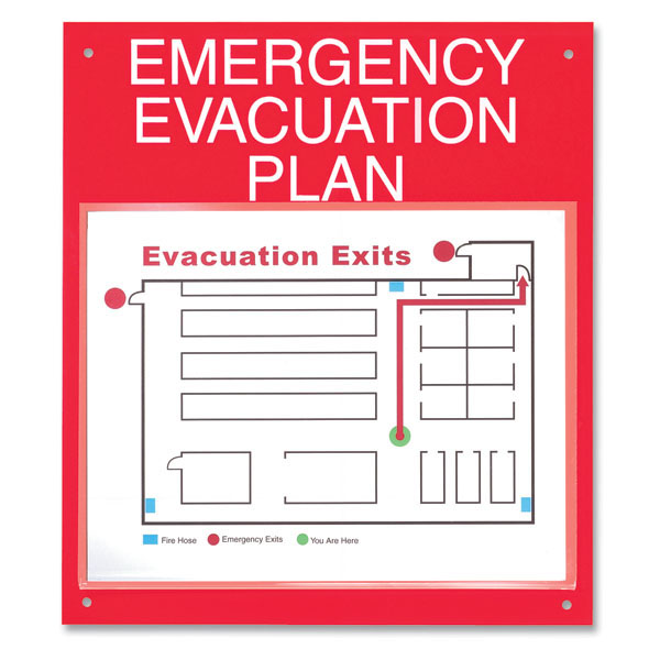 Map Out Your Emergency Evacuation Plan Board