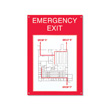 Display your emergency exit plan!