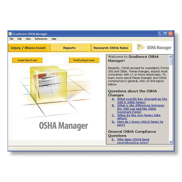 Osha Recordkeeping Software For Osha Compliance  Osha Software