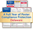 Get federal, state and local labor law posting compliance for Delaware with Poster Guard® Compliance Protection