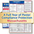 Get federal, state and local labor law posting compliance for Massachusetts with Poster Guard® Compliance Protection