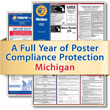 Get federal, state, and local labor law posting compliance for Michigan with Poster Guard® Compliance Protection