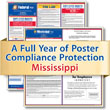 Get federal, state and local labor law posting compliance for Mississippi with Poster Guard® Compliance Protection