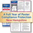 Get federal, state and local labor law posting compliance for New Hampshire with Poster Guard® Compliance Protection