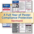 Get federal, state and local labor law posting compliance for Vermont with Poster Guard® Compliance Protection