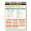 MSDS Compliance Poster - Spanish