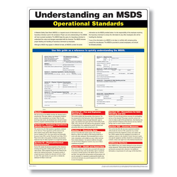 msds compliance poster meets oshas msds standards in the With how to create msds
