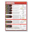 A choking poster can help save a life in the critical first few moments