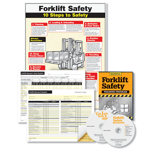forklift training set bilingual for employees