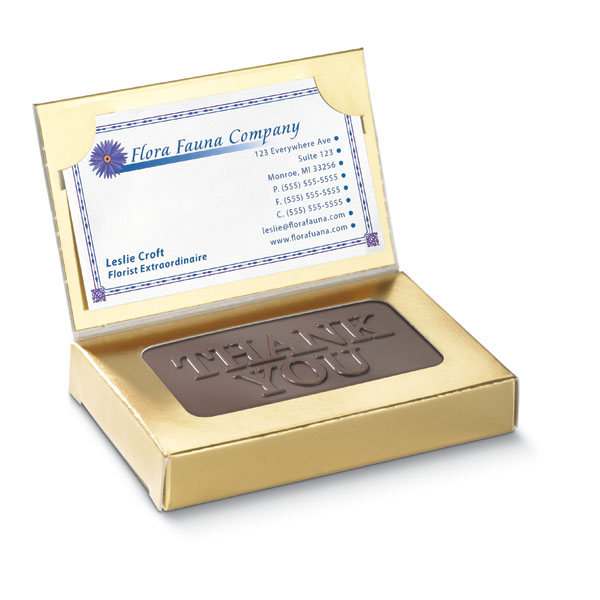 Business Card 1 Oz Creamy Chocolate Thank You Business Holiday Gifts