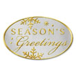 Seasons Greeting Two-Tone Seals