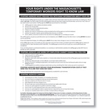 Massachusetts Temporary Workers Right to Know Law Poster